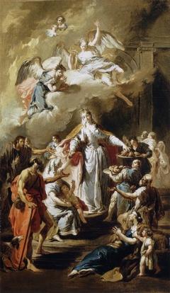 Saint Elizabeth of Hungary Distributing Alms (Pittoni)