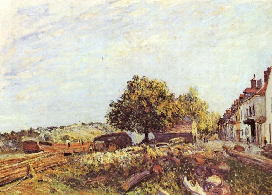 Saint-Mammès in the Morning