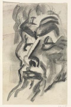 Schetsblad met portret van Jan Toorop