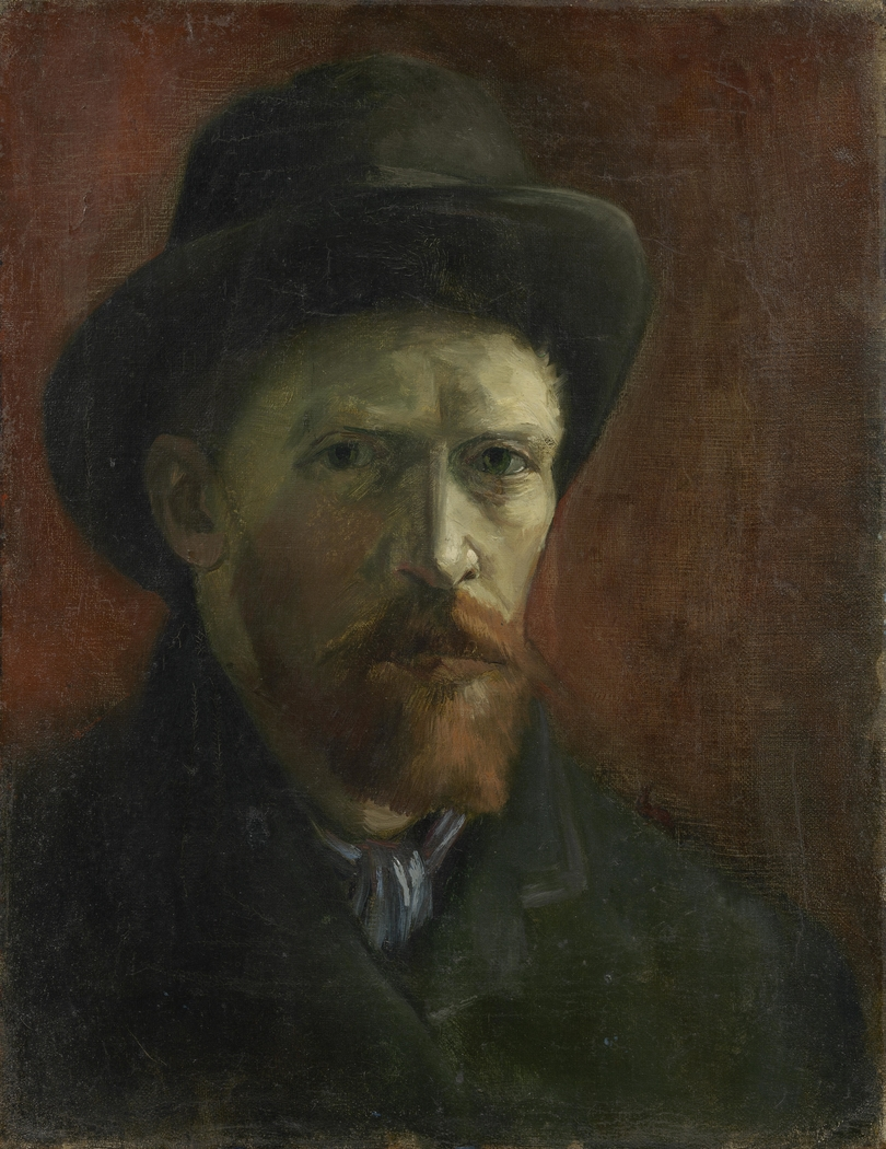 Self-Portrait with Felt Hat