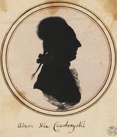 Silhouette of Adam Kazimierz Czartoryski.