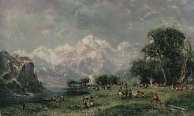Sioux Encampment in the Rocky Mountains