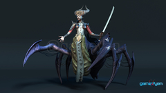 Spider Mistress - 3d low poly character developers for Character Animation Company