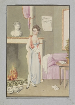 Spotprent op koningin Hortense, na 1810