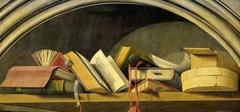 Still Life with Books in a Niche