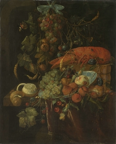 Still Life with Fruit and a Lobster