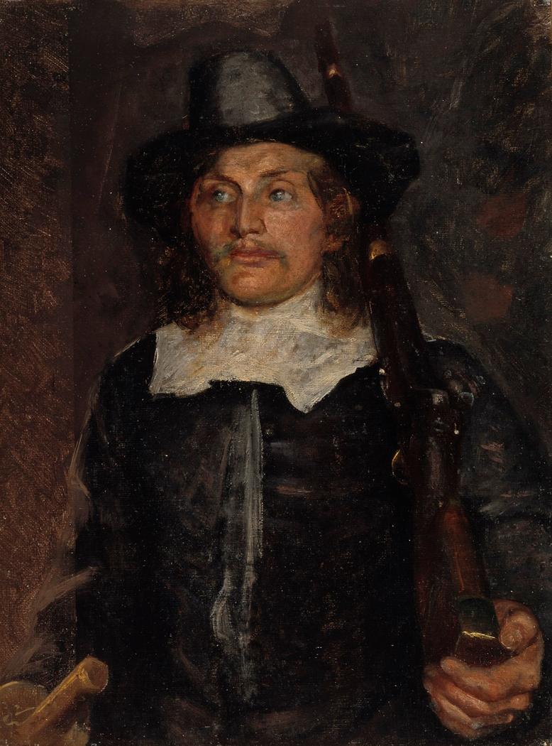Students leave to defend Copenhagen in 1658. Study.