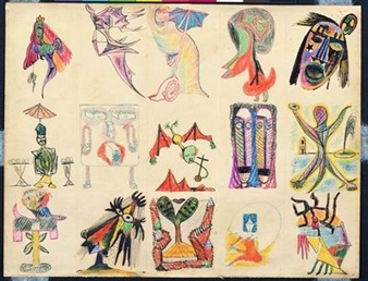 Study of Figures (collaboration with Wifredo Lam and  Jacqueline Lamba)