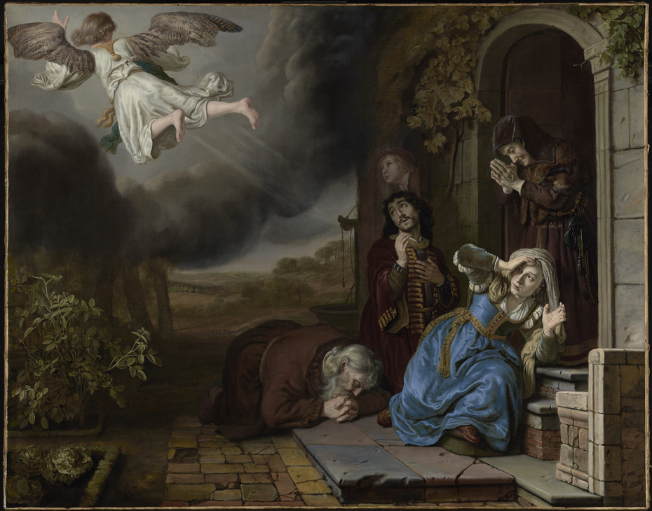 The Angel Taking Leave of Tobit and His Family