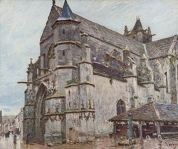 The Church in Moret under the Morning Rain