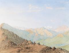 The Cordillera, Venezuela, with Travelers on a Road