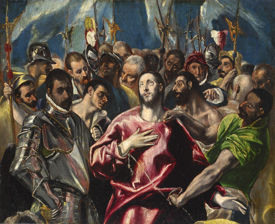 The Disrobing of Christ. Lyon   half painting version