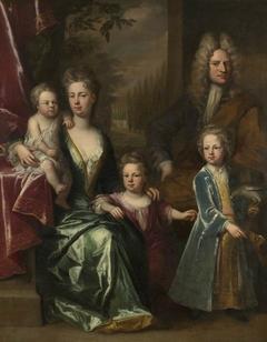 The Dryden Family: Edward Dryden (d.1717), his Wife, Elizabeth Allen and their Children, John Dryden, later Sir John Dryden, 7th Bt (1704 - 1770), Bevill Dryden (d.1758) and Mary Dryden, later Mrs John Shaw