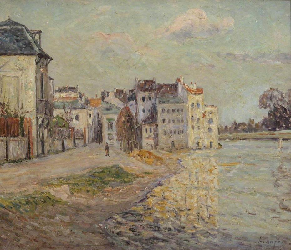 The Embankment of Lagny under Flood Water