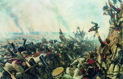 The end of Borodino battle