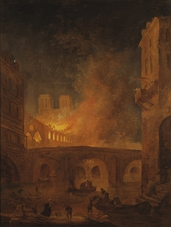 The Fire of Hôtel-Dieu in Paris, 1772
