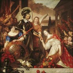 The Haarlem City Maiden greets Frederik Hendrik
