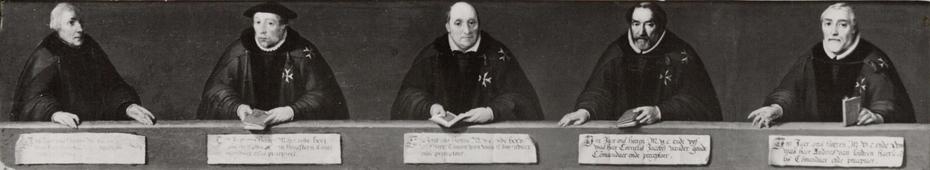 The last 5 commandeurs of the order of St John in Haarlem