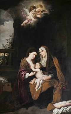 The Madonna and Child with St Anne