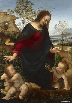 The Madonna and Child with the Infant St. John the Baptist, Leonardo da Vinci