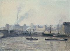 The Saint-Sever Bridge, Rouen: Mist