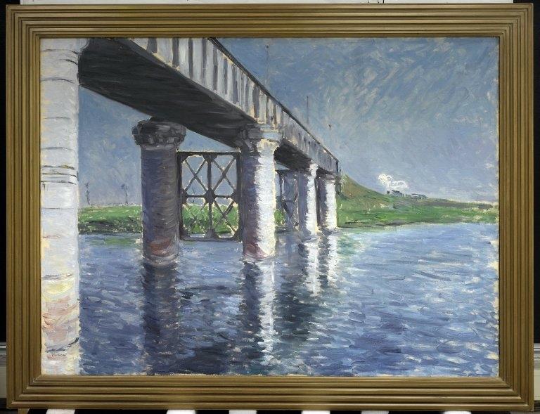 The Seine and the Railroad Bridge at Argenteuil (La Seine et le pont du chemin de fer d'Argenteuil)