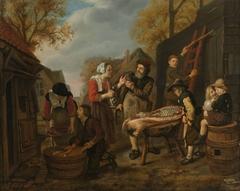 The swine butcher