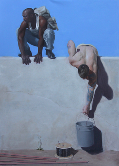 The Thieves 50 x 36 in. oil on linen