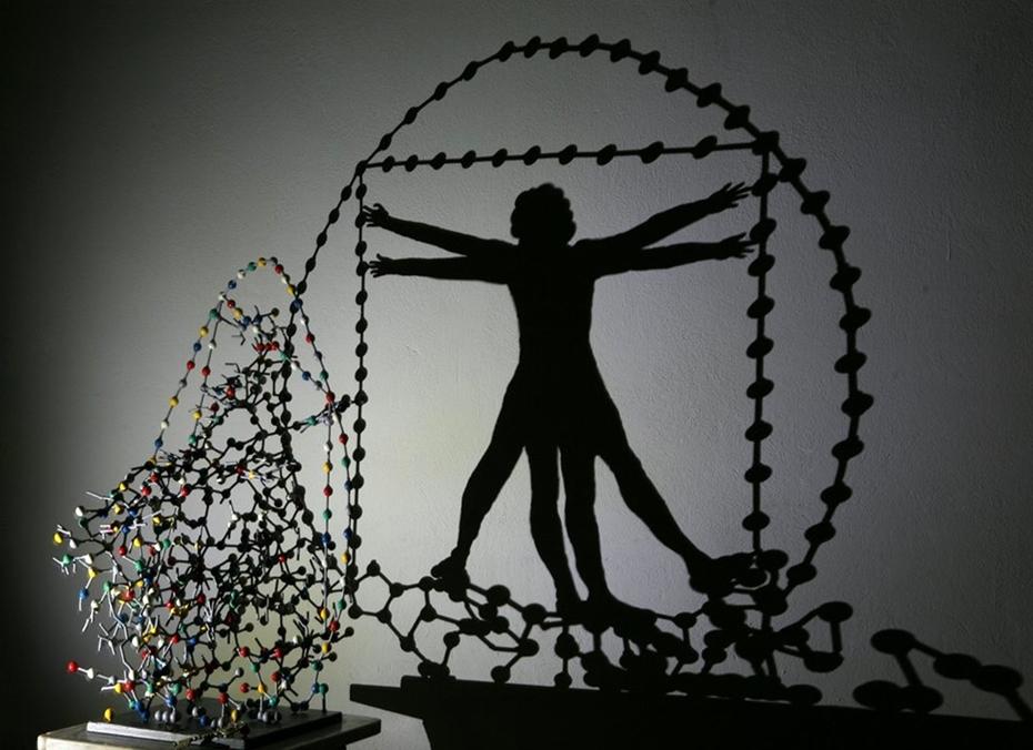 The Vitruvian man ...shadow art