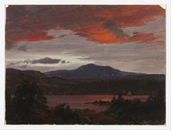 Turner Pond with Pomola Peak and Baxter Peak, Maine