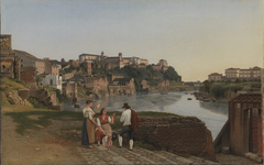 View of the Tiber near the collapsed bridge Ponte Rotto