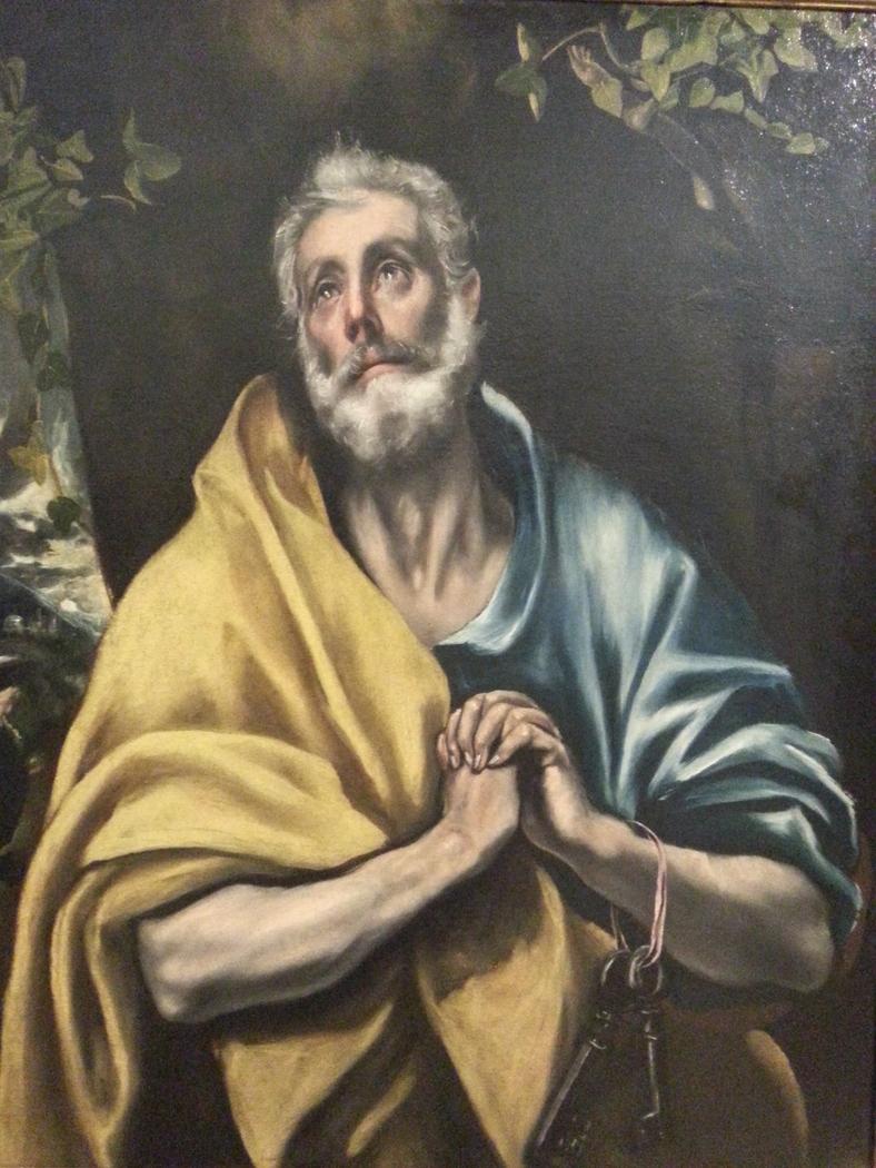 Saint Peter in Tears (detail)