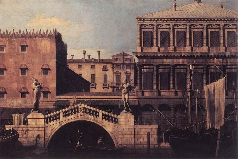 Venice: Capriccio of the Zecca and Granaries with the Ponte della Pescaria