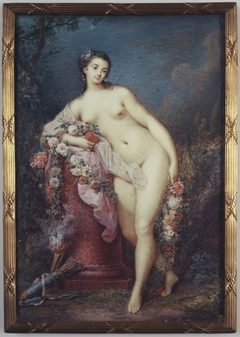 Venus leaning on a column