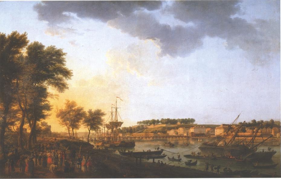 View of Bayonne, from Allée de Boufflers near Porte de Mousserole