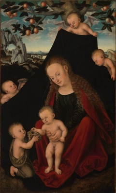 Virgin and Child with the Infant St. John the Baptist and Angels