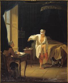 Voltaire à son lever à Ferney, dictant à son secrétaire Collini