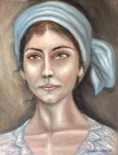 Woman with a Light Blue Headband