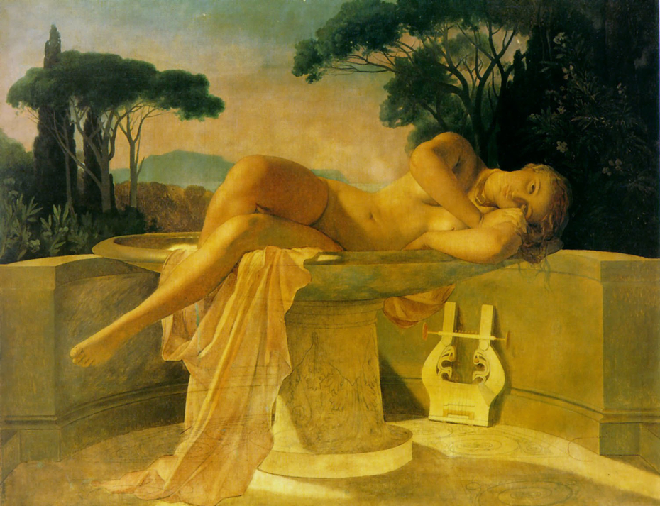 Young Women in a Basin