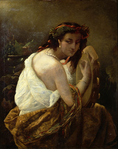 Zigeunerin mit Tamburin*