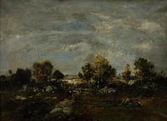 A heath scene at Fontainebleau