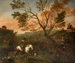A Landscape with Horsemen (including a Falconer)