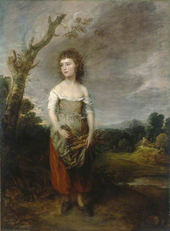 A Peasant Girl Gathering Faggots in a Wood