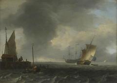 A View across a River near Dordrecht (?)