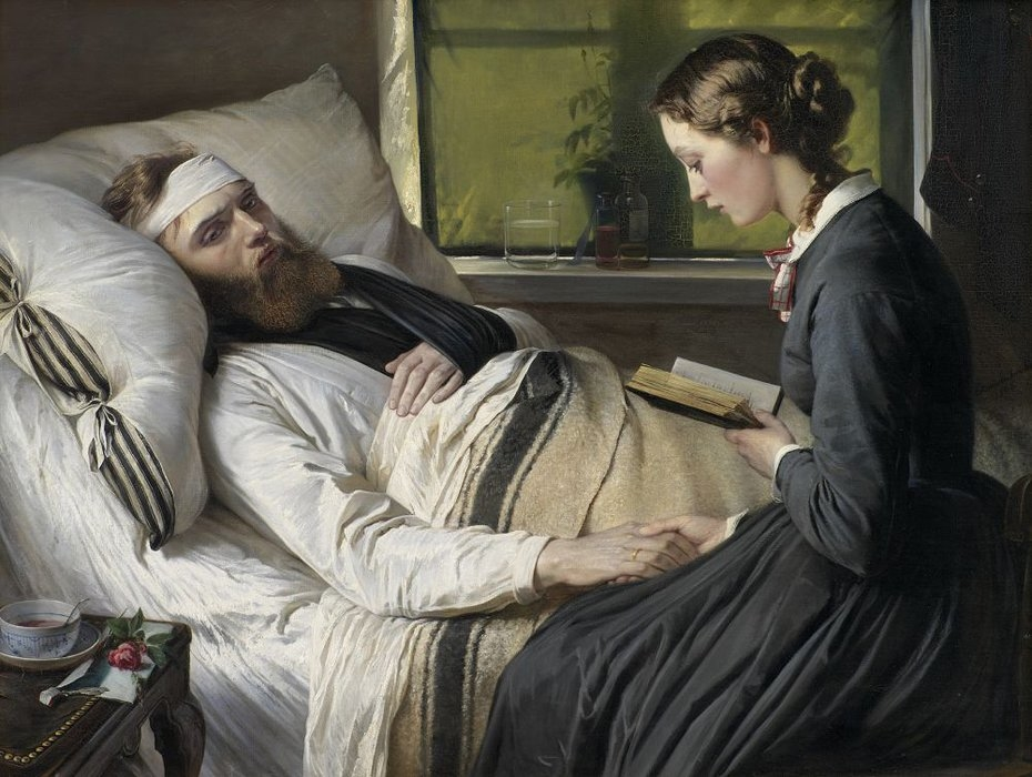 A Wounded Danish Soldier