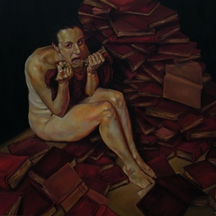 After Tania Bruguera: Dolores Jimenez y Muro. Oil on canvas. 48 x 48 in