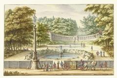 Amfitheater te Kleef, naar het Zuiden gezien