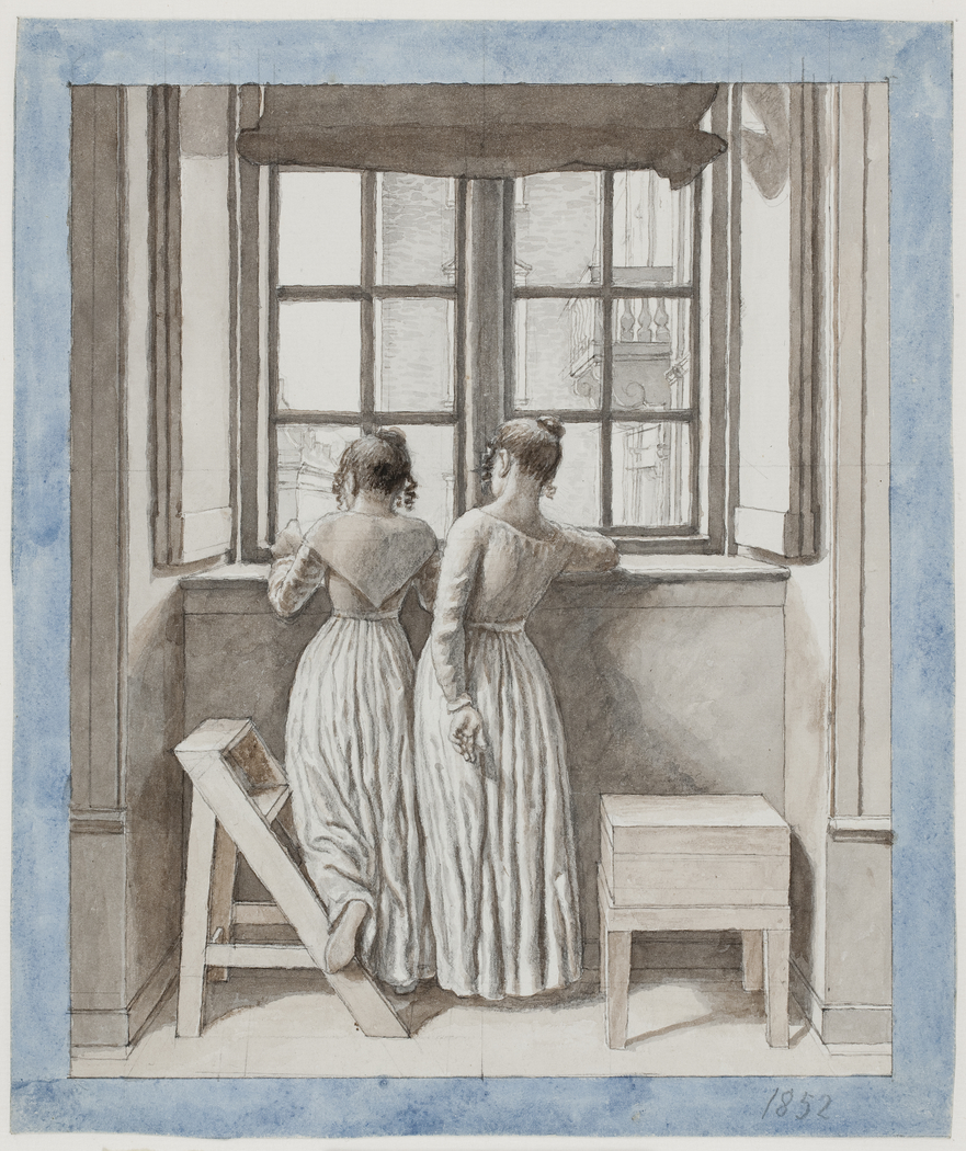 At a Window in the Artist's Studio