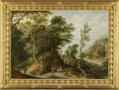 Battle Scene in a Forest Landscape