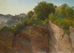 Blick vom Salzburger Mönchsberg auf die Festung Hohensalzburg